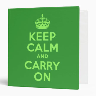 Keep Calm and Carry On Vinyl Binders