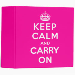 Avery Signature 1' Binder with Keep Calm and Carry On (Magenta) design