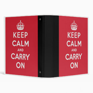 Keep Calm And Carry On Binders