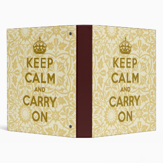 Keep Calm And Carry On Binder