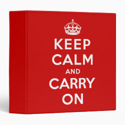 Avery Signature 1' Binder with Keep Calm and Carry On (Red) design