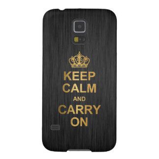 Keep Calm and Carry On - Black and Gold Galaxy Nexus Cases