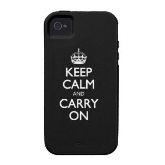 Keep Calm And Carry On - Black And White Pattern iPhone 4 Cover