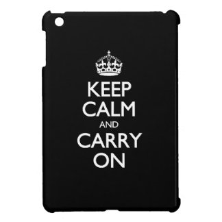 Keep Calm And Carry On - Black And White Pattern iPad Mini Case