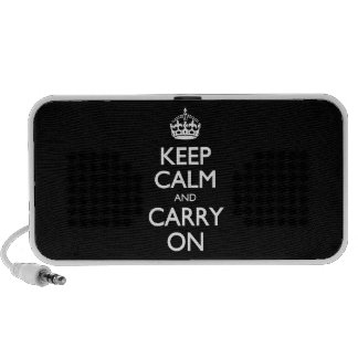 Keep Calm And Carry On - Black And White Pattern Mp3 Speakers