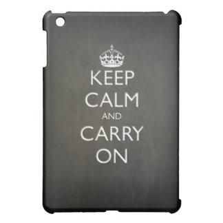 Keep Calm and Carry On (black stone) iPad Mini Cover
