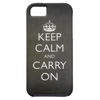 Keep Calm and Carry On (black stone) iPhone SE/5/5s Case