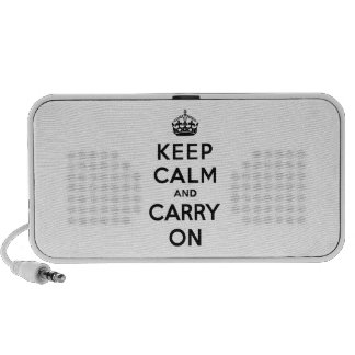 Keep Calm and Carry On Black Text Travel Speaker