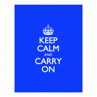 Keep Calm And Carry On - Blue Light Pattern Personalized Letterhead
