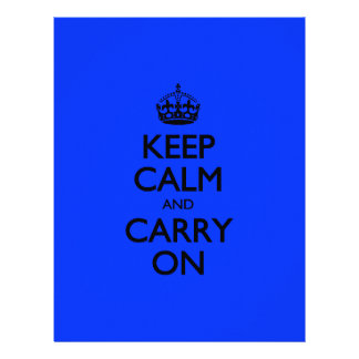 Keep Calm And Carry On Blue Light Pattern Letterhead