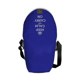 Keep Calm and Carry On Blue Courier Bag