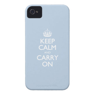 Keep Calm And Carry On. Blue Sky Pattern Case-Mate iPhone 4 Cases