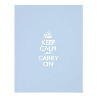 Keep Calm And Carry On Blue Sky Pattern Letterhead