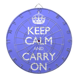 Keep Calm And Carry On. Blue Violet Orchid Pattern Dart Boards