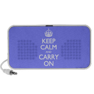 Keep Calm And Carry On. Blue Violet Orchid Pattern Speaker