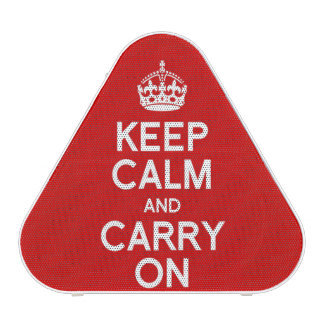 Keep Calm and Carry On Bluetooth Speaker