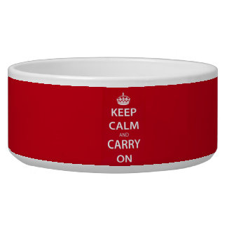 Keep Calm and Carry On Bowl