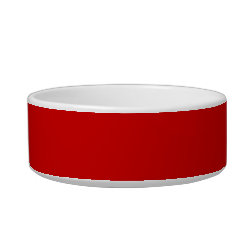 Cat Food Bowl with Keep Calm and Carry On (Red) design