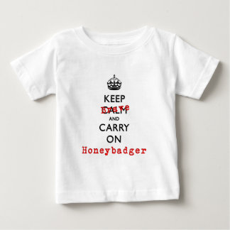 Keep Calm and Carry On  Brave Honeybadger Baby T-Shirt