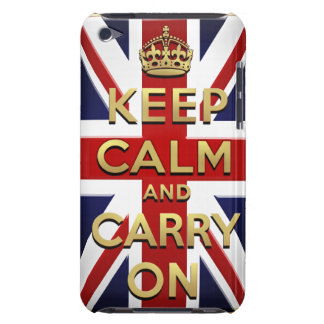 Keep calm and carry on British flag Barely There iPod Cases