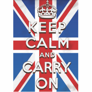 Keep Calm and Carry On British Flag Standing Photo Sculpture