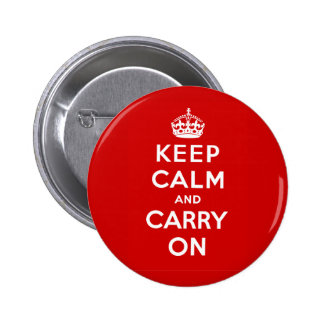 Keep Calm and Carry On British Poster on T shirts Pinback Button