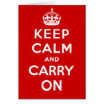 Keep Calm and Carry On British Poster on T shirts Cards