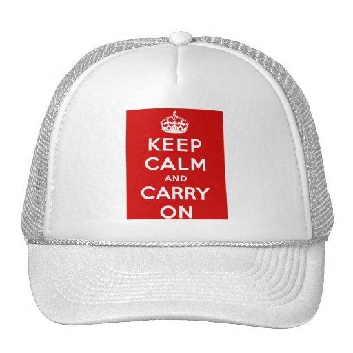 Keep Calm and Carry On British Poster on T shirts Mesh Hats