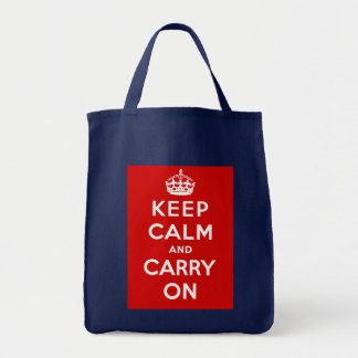 Keep Calm and Carry On British Poster on T shirts Tote Bag