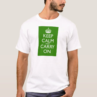 Keep Calm and Carry On British Racing Green T-Shirt