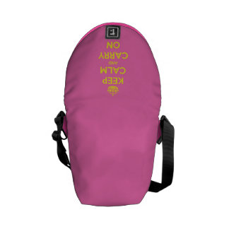 Keep Calm and Carry On Bubblegum Sunshine Courier Bags