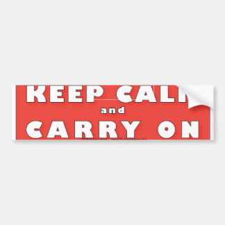 KEEP CALM and CARRY ON Bumper Sticker and more Car Bumper Sticker