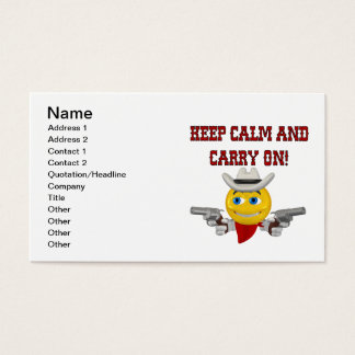 Keep Calm And Carry On Business Card