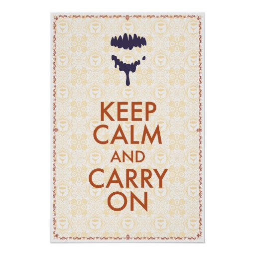 Keep Calm And Carry On by Jason Lind Poster