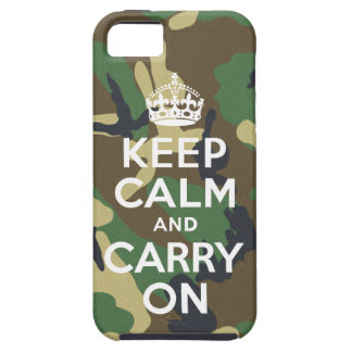Keep Calm and Carry On Camouflage iPhone 5 Case