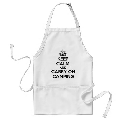 KEEP CALM AND CARRY ON CAMPING GIFT SELECTION NEW ADULT APRON