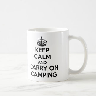 KEEP CALM AND CARRY ON CAMPING GIFT SELECTION NEW COFFEE MUG