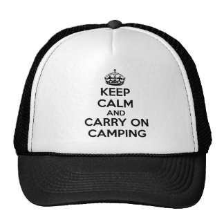 KEEP CALM AND CARRY ON CAMPING GIFT SELECTION NEW TRUCKER HAT