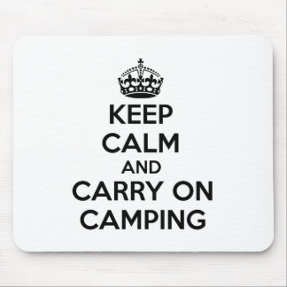 KEEP CALM AND CARRY ON CAMPING GIFT SELECTION NEW MOUSE MAT