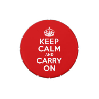 Keep Calm and Carry On Candy Tins