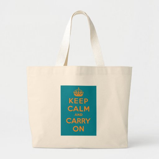Keep Calm And Carry On Canvas Bags