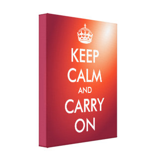 Keep calm and carry on canvas print | wall art