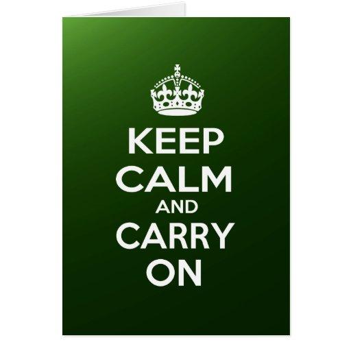 Keep Calm and Carry On Card