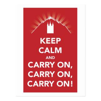 Keep calm and carry on, carry on, carry on! card