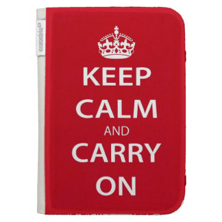 Keep Calm and Carry On Kindle Folio Case