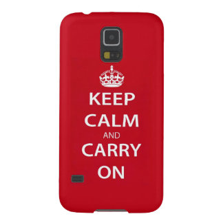 Keep Calm and Carry On Cases For Galaxy S5
