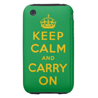 keep calm and carry on tough iPhone 3 covers