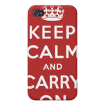Keep Calm and Carry On Cases For iPhone 4