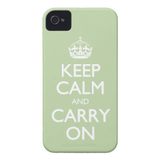Keep Calm And Carry On - Celery Root White Text iPhone 4 Case-Mate Case