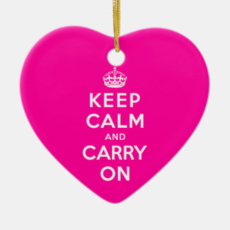 Keep Calm and Carry On Ceramic Ornament